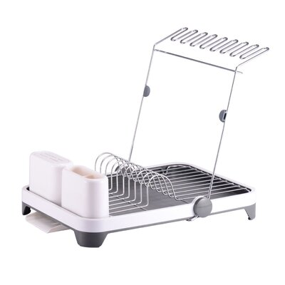 Deluxe Multi-Function Dish Rack Finish: White/Gray