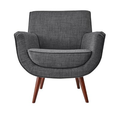 Cormac Armchair Upholstery: Charcoal Gray