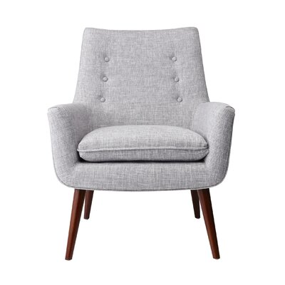 Addison Arm Chair Upholstery: Light Gray