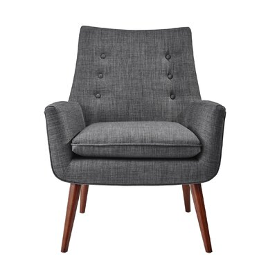 Addison Armchair Upholstery: Charcoal Gray
