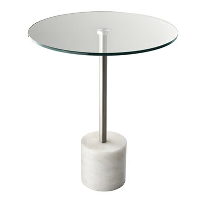 Blythe End Table Finish: White Marble
