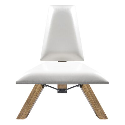 Hahn Slipper Chair in White PU Leather