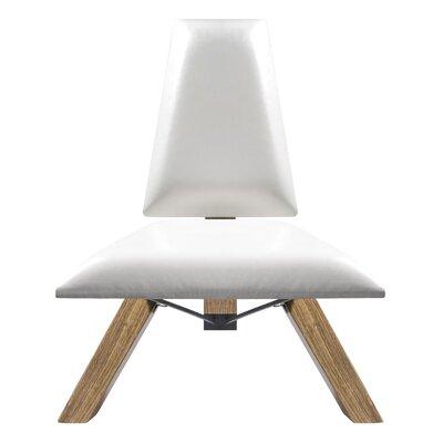 Hahn Slipper Chair in White PU Leather