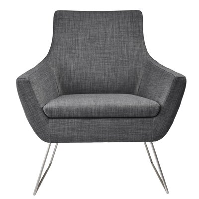 Kendrick Arm Chair Upholstery: Charcoal Gray