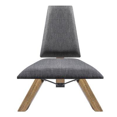 Hahn Slipper Chair in Charcoal Grey Fabric