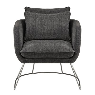 Alexandre Barrel Chair Upholstery: Dark Gray