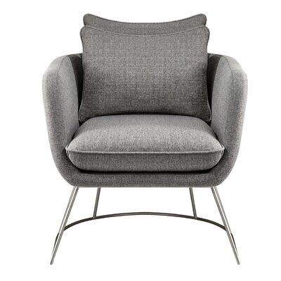 Alexandre Barrel Chair Upholstery: Light Gray