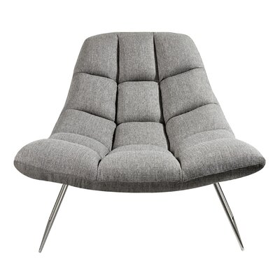 Americus Lounge Chair Upholstery: Light Gray
