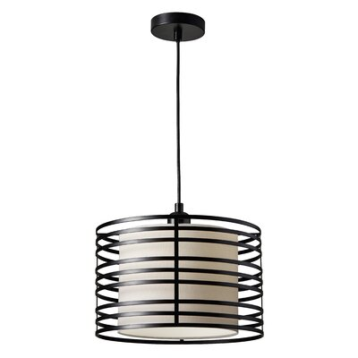 Ike 1-Light Drum Pendant