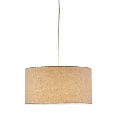 Malcolm 1-Light Brown Drum Pendant Finish: Natural