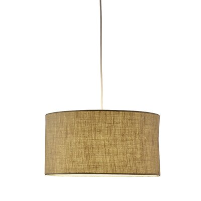 Malcolm 1-Light Brown Drum Pendant Finish: Burlap