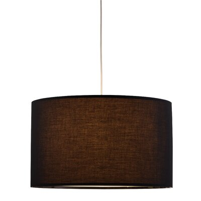 Timpani 1-Light Drum Pendant Finish: Black