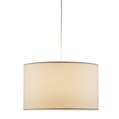 Timpani 1-Light Drum Pendant Finish: White
