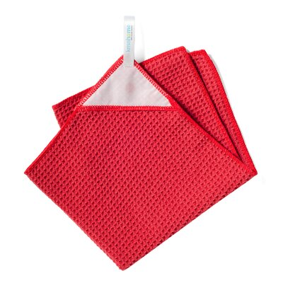 KMN Magnetic Towel Microfiber Kitchen Towel - Color: Red