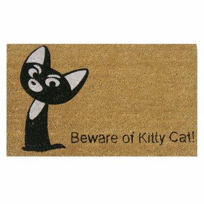 Beware of Kitty Cat Animal Doormat