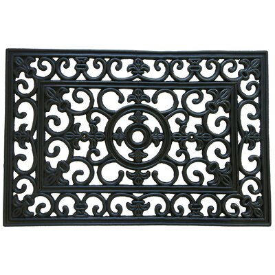 Blooming Flower Doormat Rug Size: 16 x 26