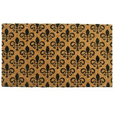 St. Germaine Fleur de Lis Doormat Rug Size: 16 x 26