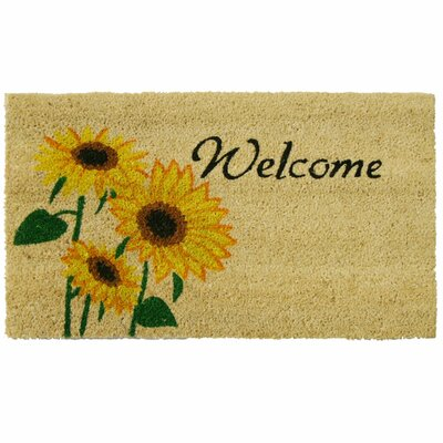 Sunflower Welcome Floral Doormat