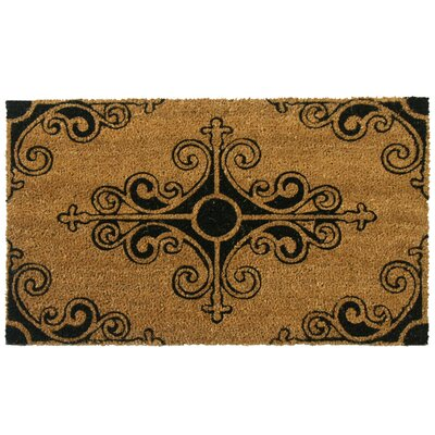 Traditional Fleur de Lis French Doormat Mat Size: Rectangle 16 x 26