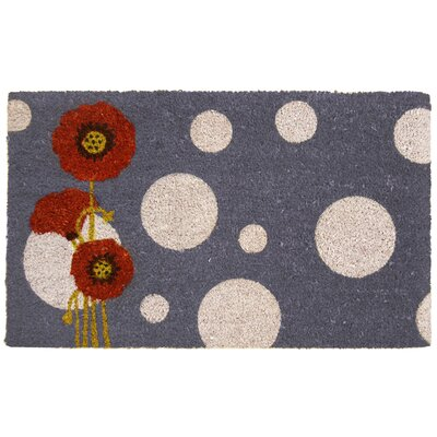 Rouge Contemporary Floral Doormat