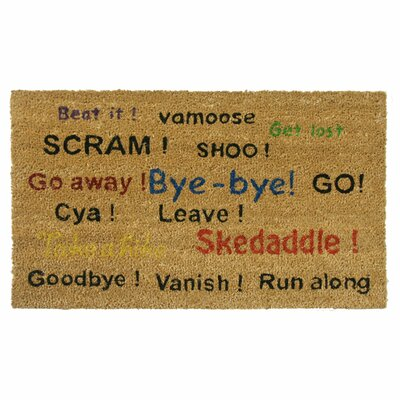 Go Away! Scram! Leave! Humorous Doormat