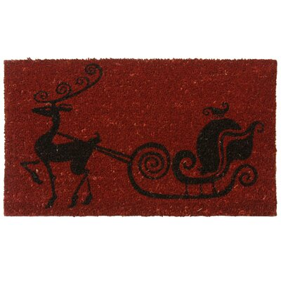 Rudolph The Nose Reindeer Christmas Holiday Doormat