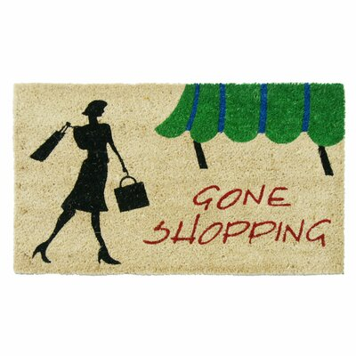 Gone Shopping Unique Welcome Doormat
