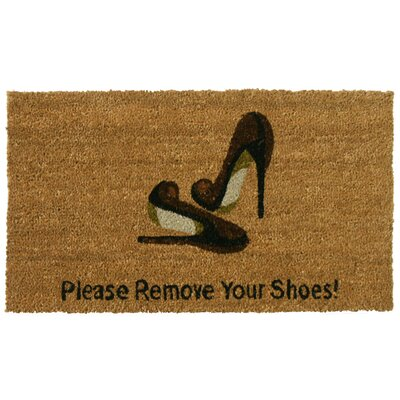 Welcome and Please Remove Your Shoes Doormat