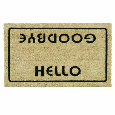 Hello, Welcome Goodbye Funny Doormat