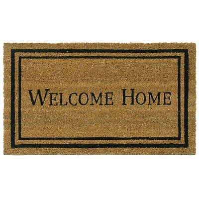 Welcome Home Doormat Rug Size: 2' x 4'9