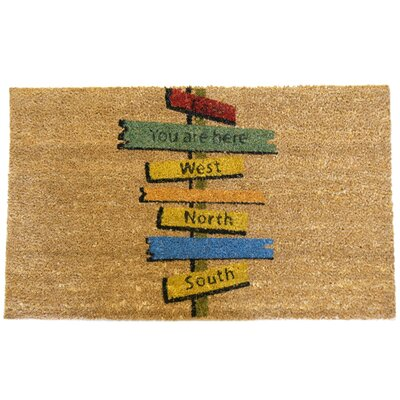 Need Direction? You Are Here Doormat