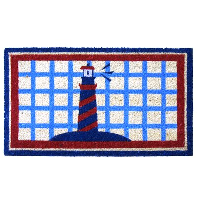 Lighthouse on The Cape Cod Beach Doormat