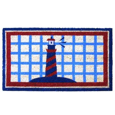 Lighthouse on The Cape Cod Beach Doormat