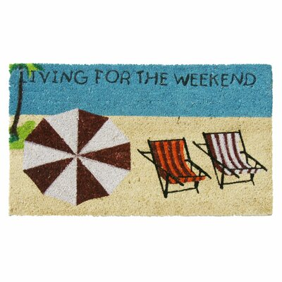 Living for the Weekend Beach Fun Welcome Doormat