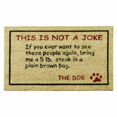 Jackalope Steak! Dog Humorous Welcome Doormat