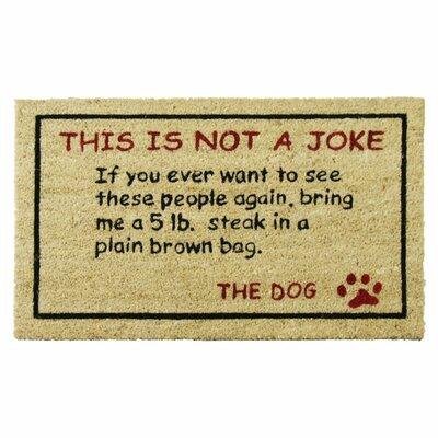Steak! Dog Humorous Welcome Doormat