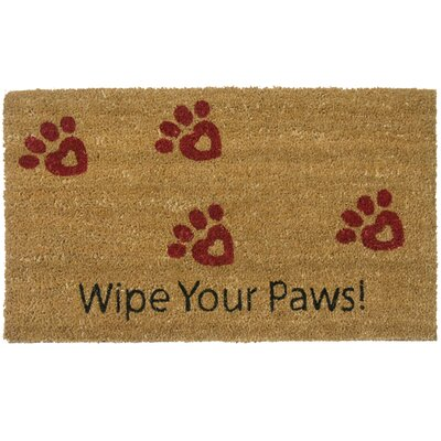 MacDowell Wipe Your Paws! Animal Doormat