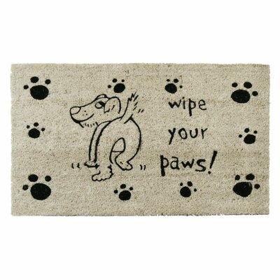 Wipe Your Paws Dog Animal Doormat