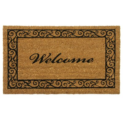 Welcome Doormat Mat Size: 2' x 4' 9