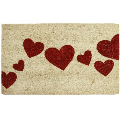 Burkett Hearts Entrance Doormat