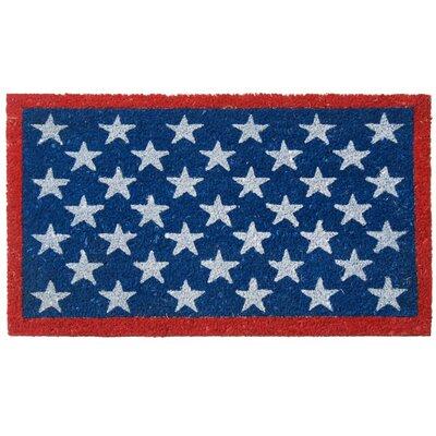 Patriotic American Flag Doormat