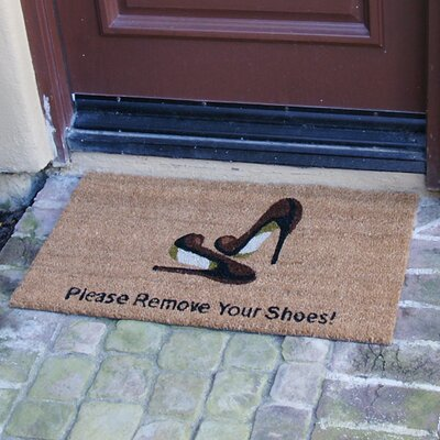 Groundhog Welcome and Please Remove Your Shoes Doormat