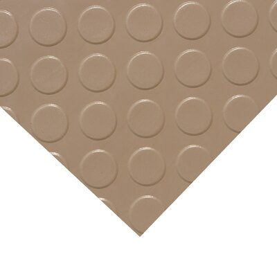 Metallic Coin-Grip Beige 4ft x 4ft Flooring Mat