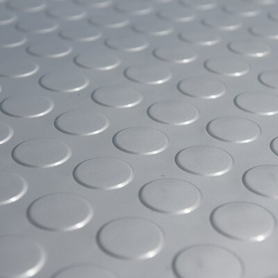 Metallic Coin-Grip Silver 4ft x 6ft Flooring Mat