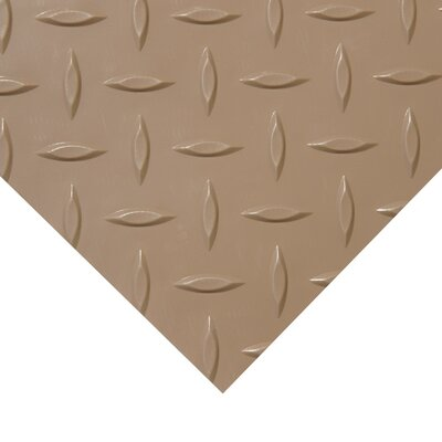 Metallic Diamond-Plate Beige 4ft x 9ft Flooring Mat
