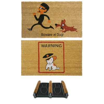 3 Piece Dog Lovers Doormat Set
