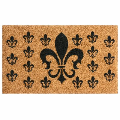 French Coat of Arms Fleur de Lis Doormat Rug Size: 16 x 26