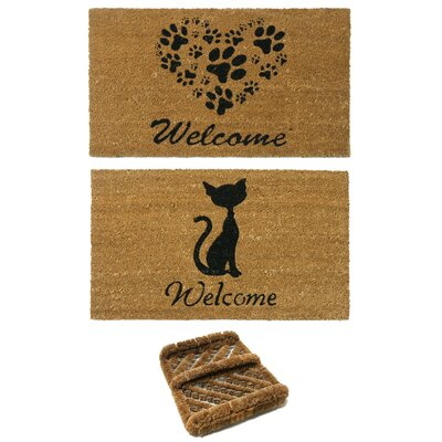 3 Piece Animals Doormat Set