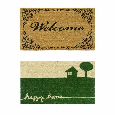 2 Piece All Weather Doormat Set