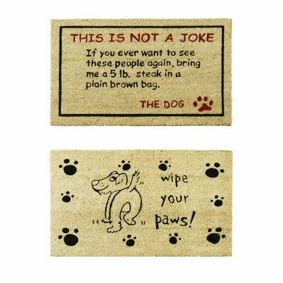 2 Piece Doggy Doormat Set